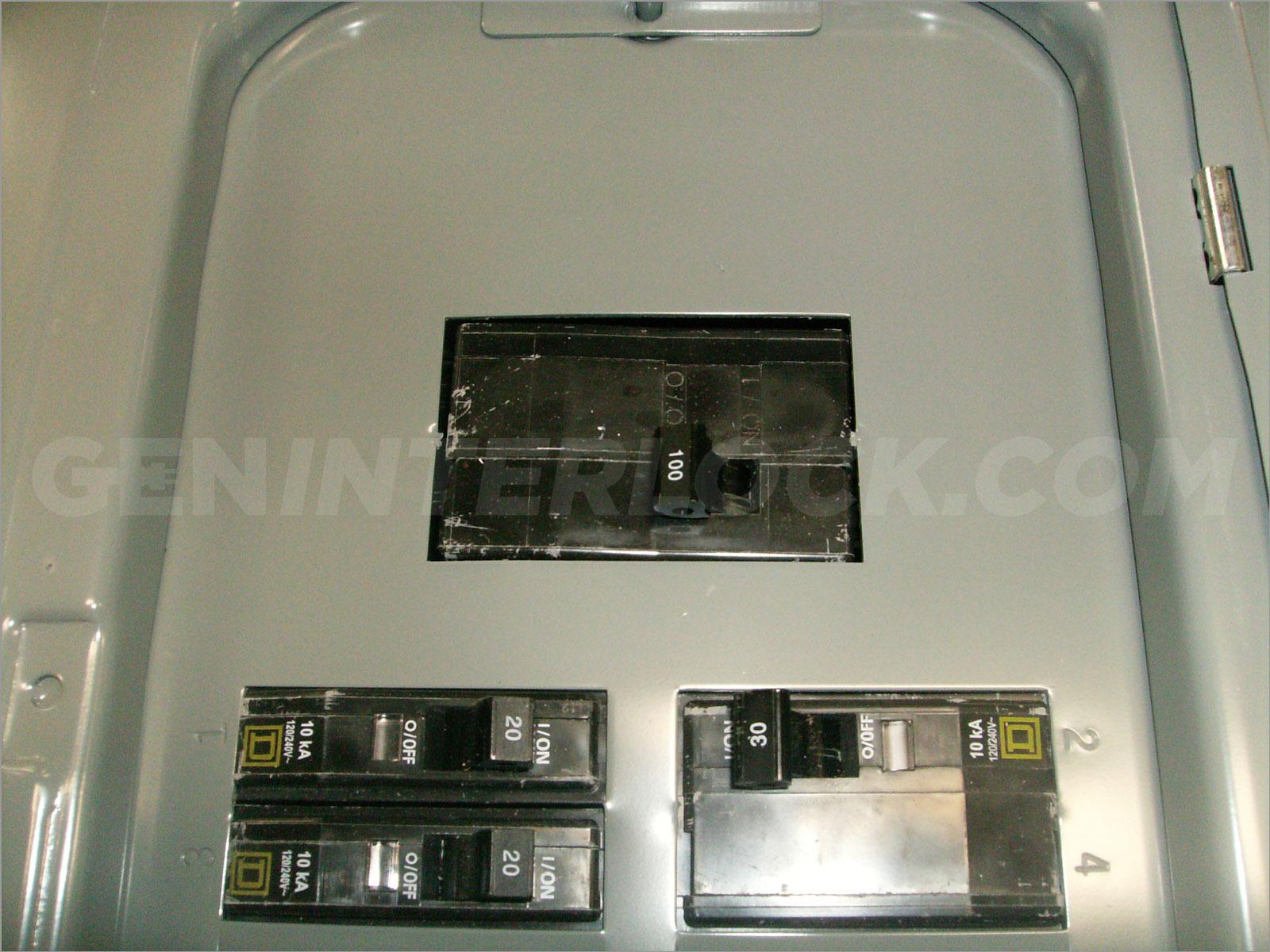 Generator interlock kit Square D QO & Homeline 100 Amp ...