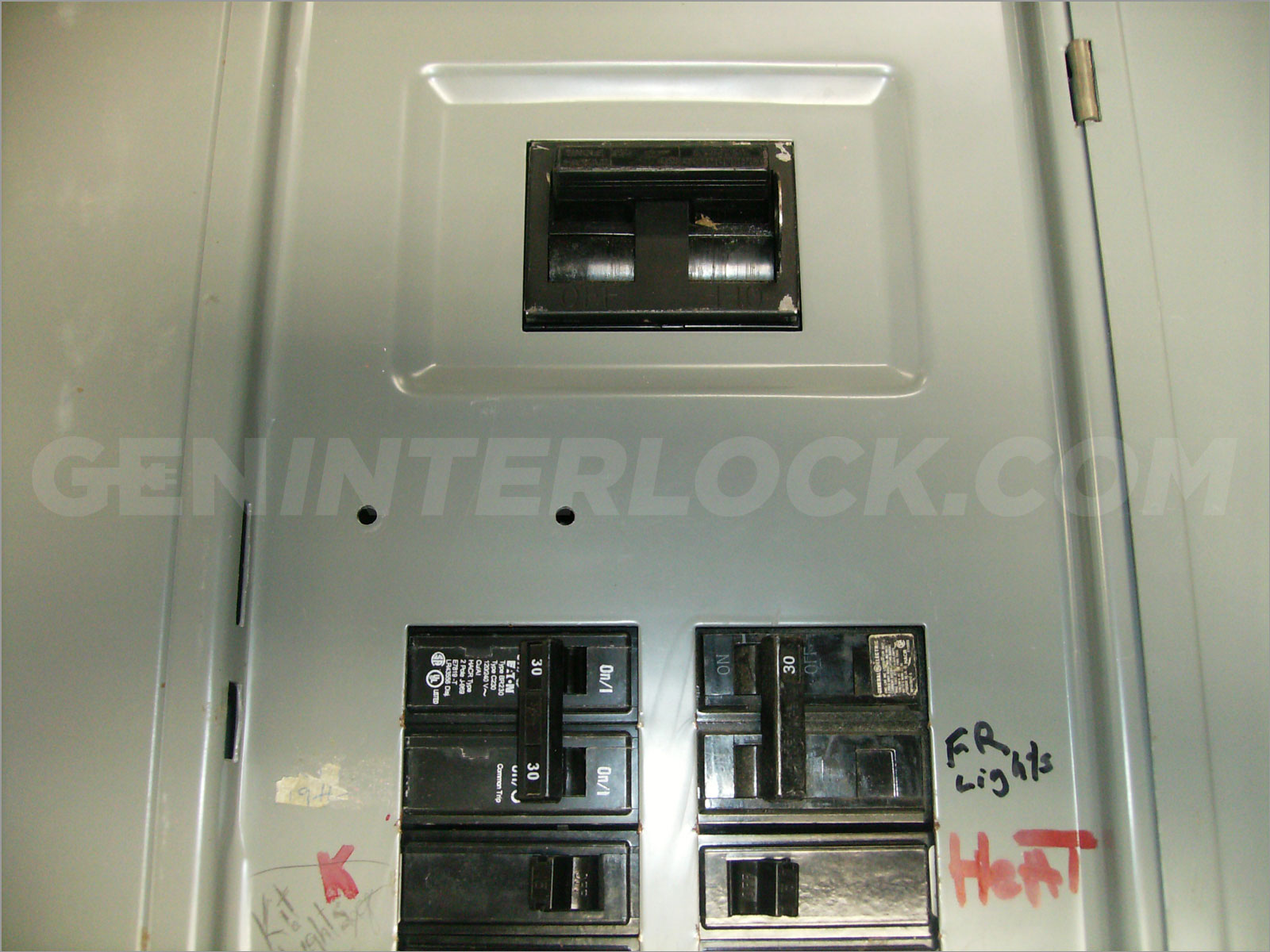 Generator interlock kit GTE Sylvania 150200 Amp Panel Transfer – Interlock Kit Wiring Diagram