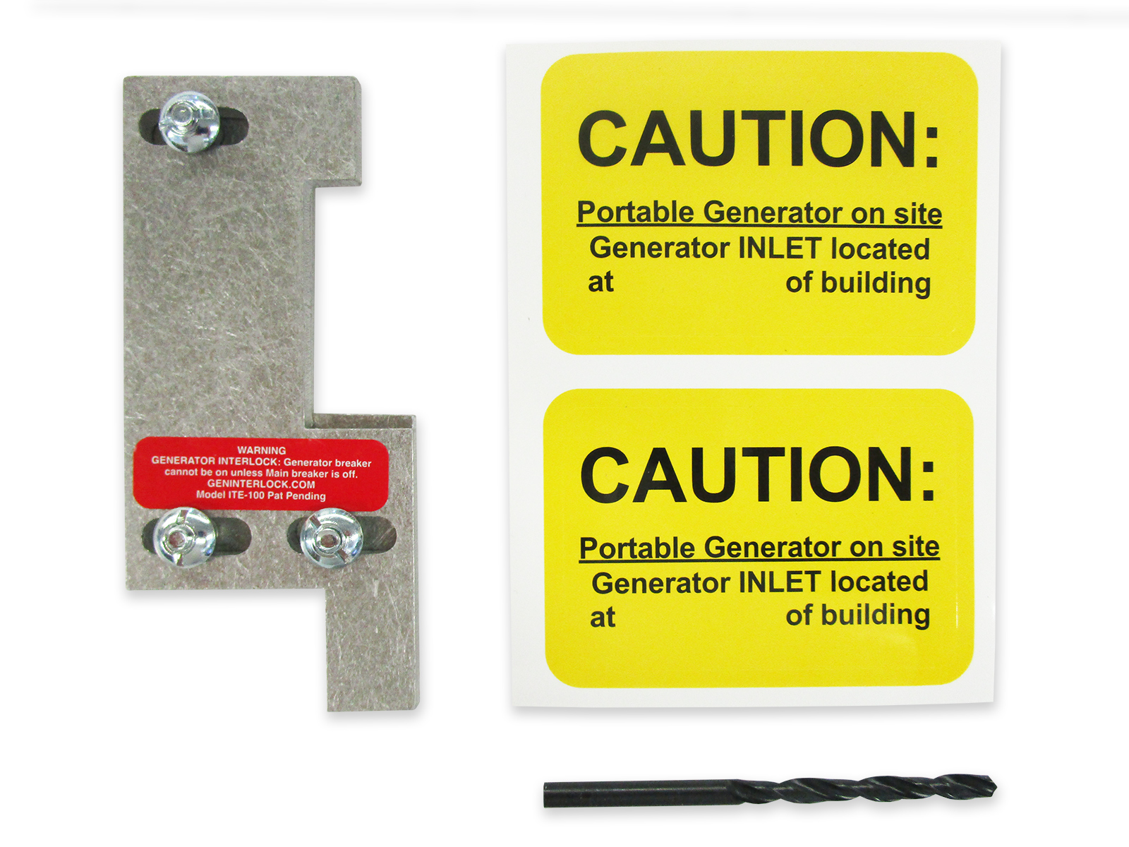 Generator interlock kit fits Gould, ITE, Siemens or Murray 100 Amp Panels |  GenInterlock
