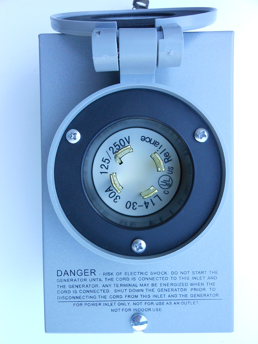 Power Inlet 30 Amp Twist Lock Nema 3r L14 30 Geninterlock
