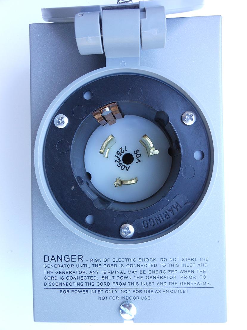 Power Inlet 50 Amp Twist Lock Nema 3r Geninterlock