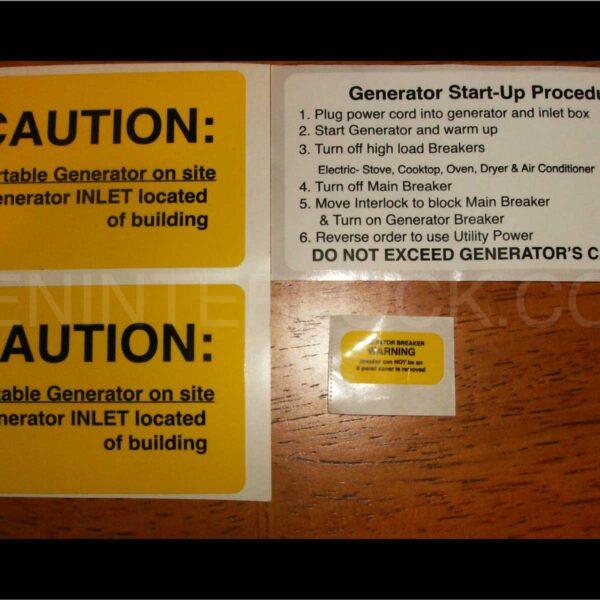 Generator Interlock    Transfer Switch Caution Labels Nec