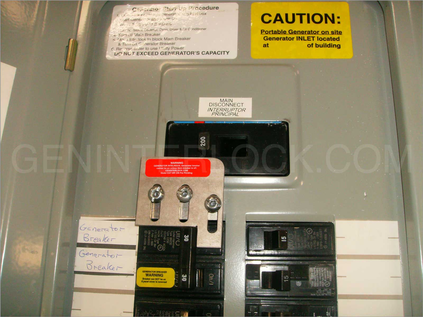 Generator interlock kit Cutler Hammer / Eaton / Challenger 150 and ...