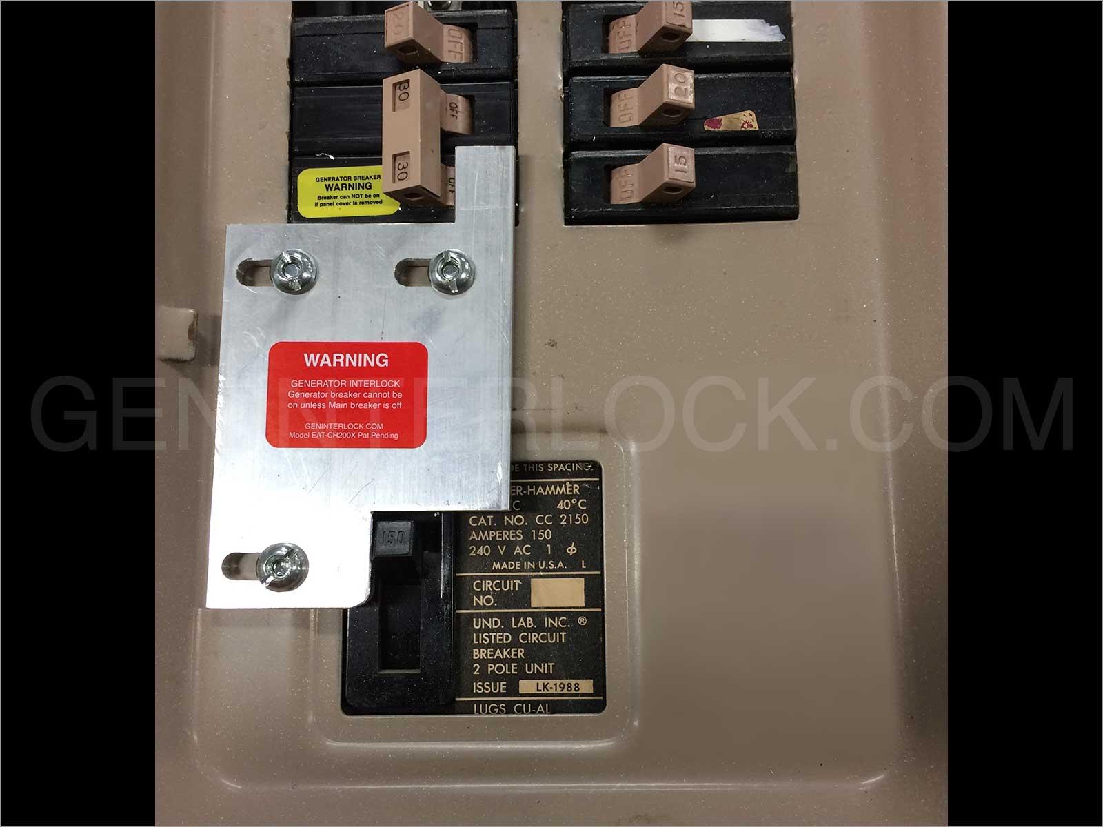 Generator Interlock Kit Eaton Cutler Hammer 150 And 200