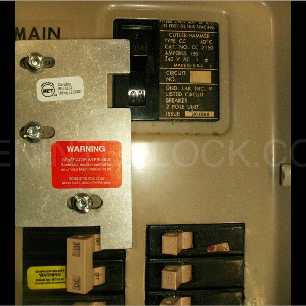 60 Amp Breaker >> Generator Interlock Kit Eaton / Cutler Hammer Vertical Throw 150 and 200 Amp Panels   GenInterlock