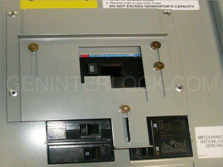 Generator Interlock Kit Cutler Hammer Eaton Challenger