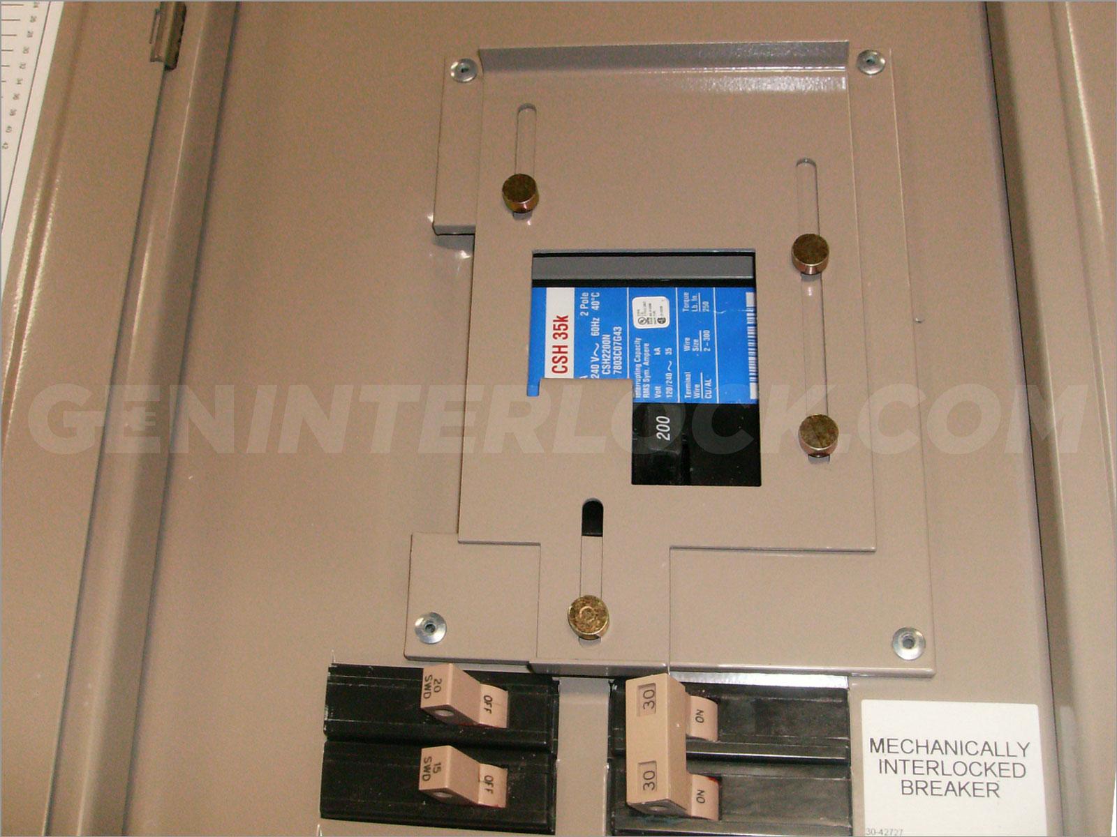 OEM Model New Panel Cover with Generator interlock kit Eaton ...