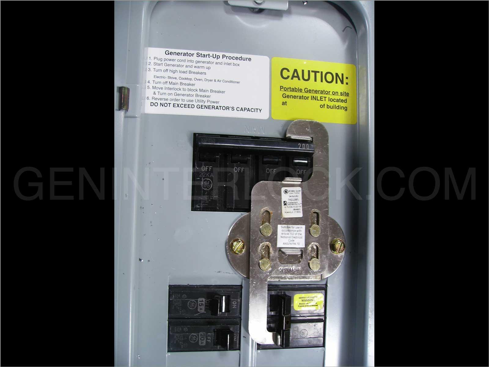 OEM Model Generator Interlock Kit General Electric GE Vertical