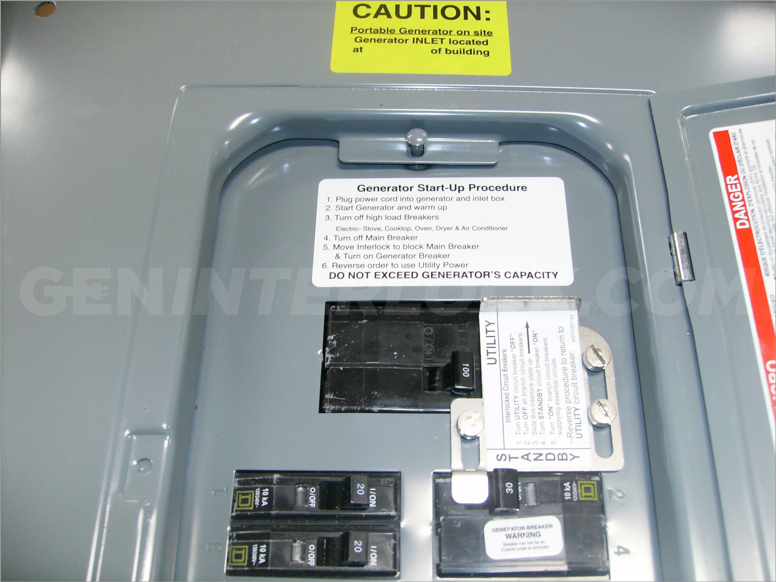 Oem Model Generator Interlock Kit Square D Qo 100 A Indoor