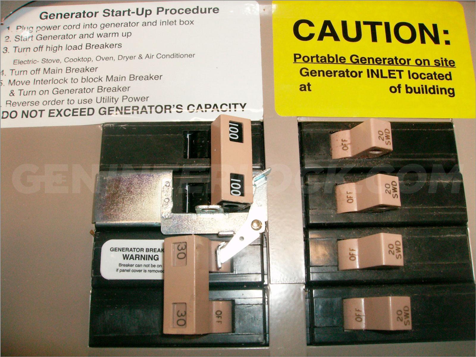 Eaton Archives Geninterlock 100 Amp Panel Fuse Box Oem Model Generator Interlock Kit Cutler Hammer Ch Series Only Tan Handle