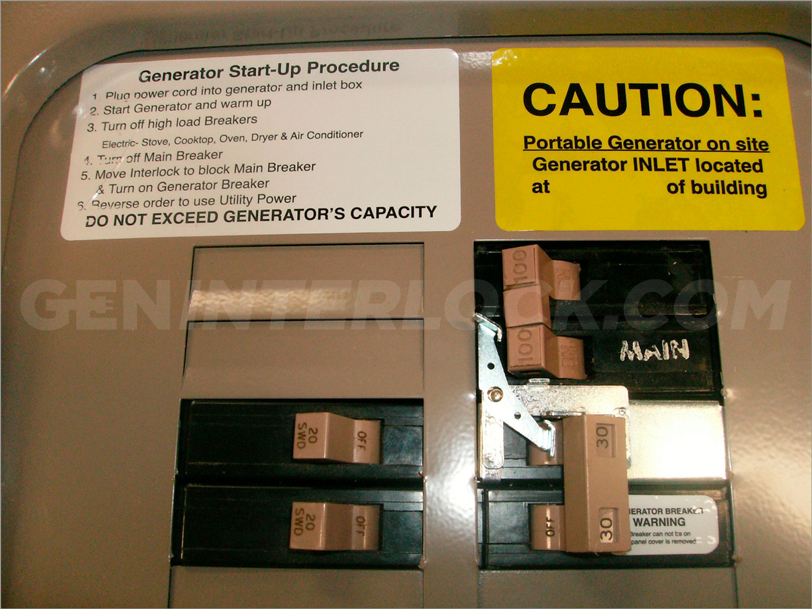 OEM Model Generator Interlock Kit Eaton / Cutler Hammer 100 Amp CH ...