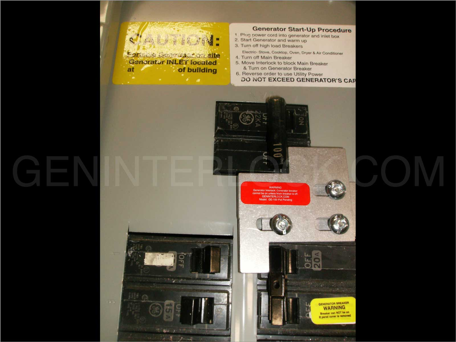 Generator Interlock Kit General Electric Ge 100 Amp Panels Wiring Power Inlet Box Ge100 U Lg I