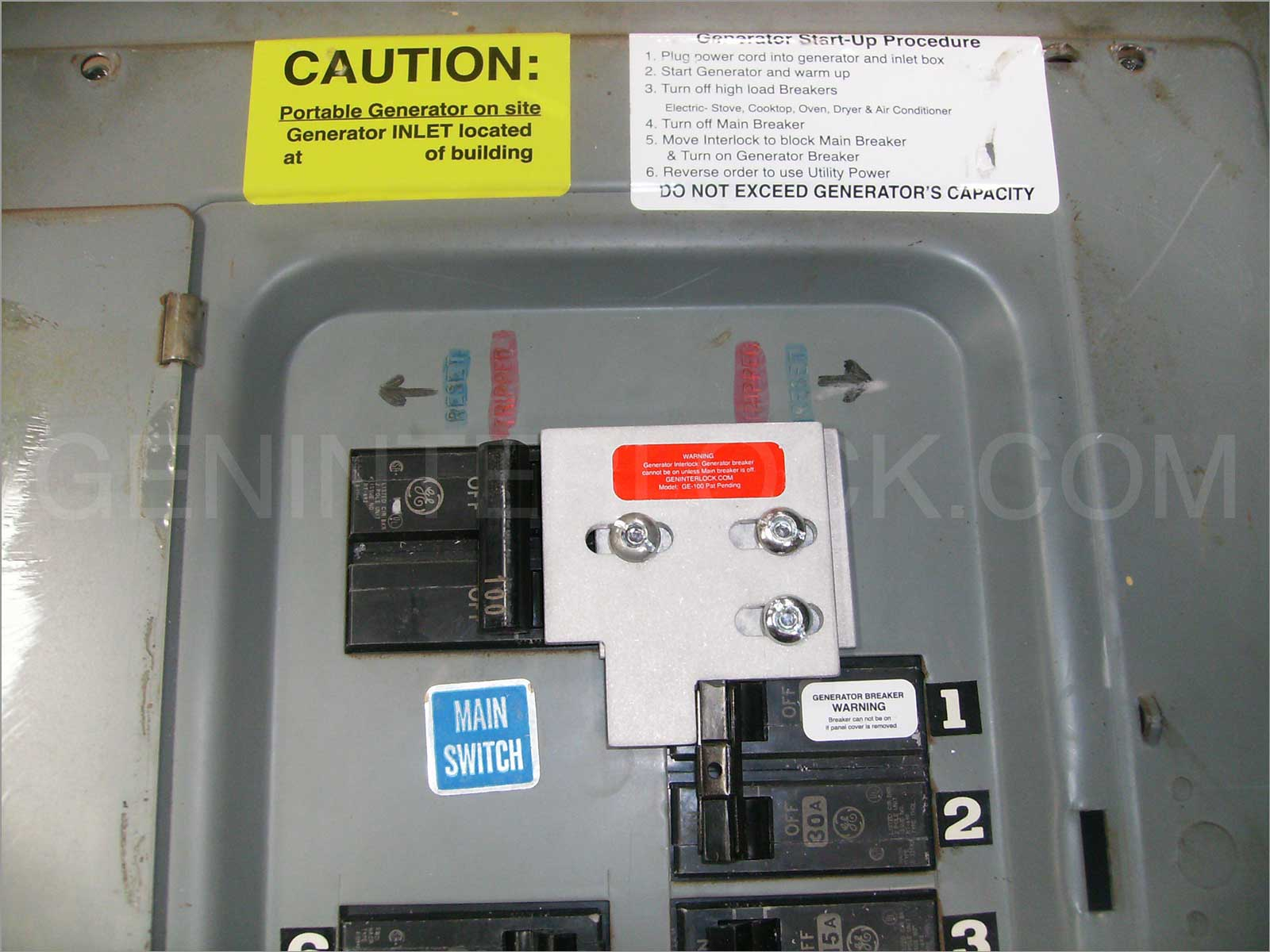 Generator Interlock Kit General Electric Ge 100 Amp Older