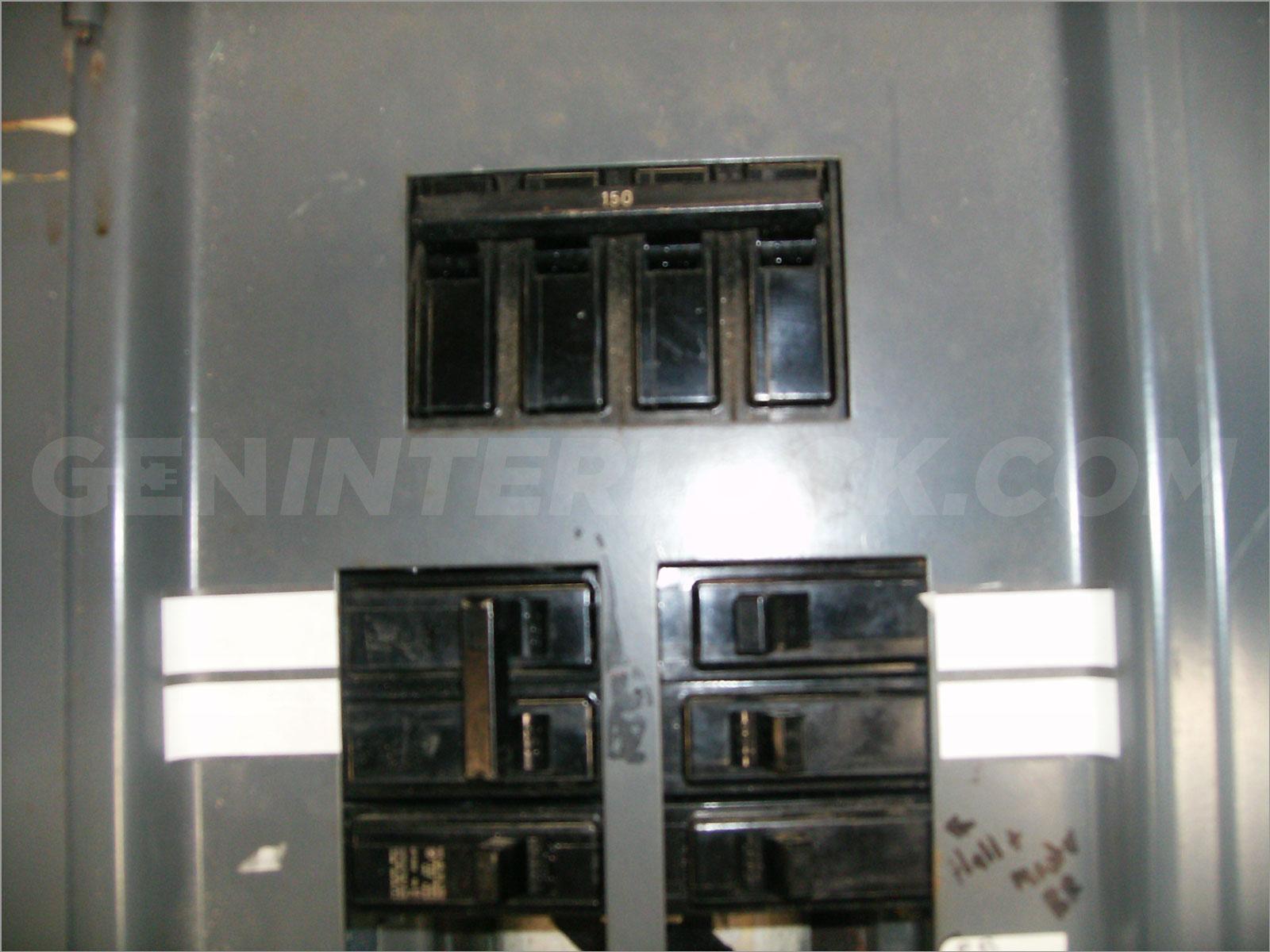 Generator interlock kit Siemens and ITE 150 and 200 Amp Panels