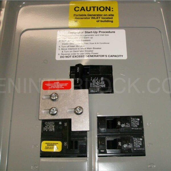 Generator Interlock Kit Siemens And Murray 100 Amp Panels