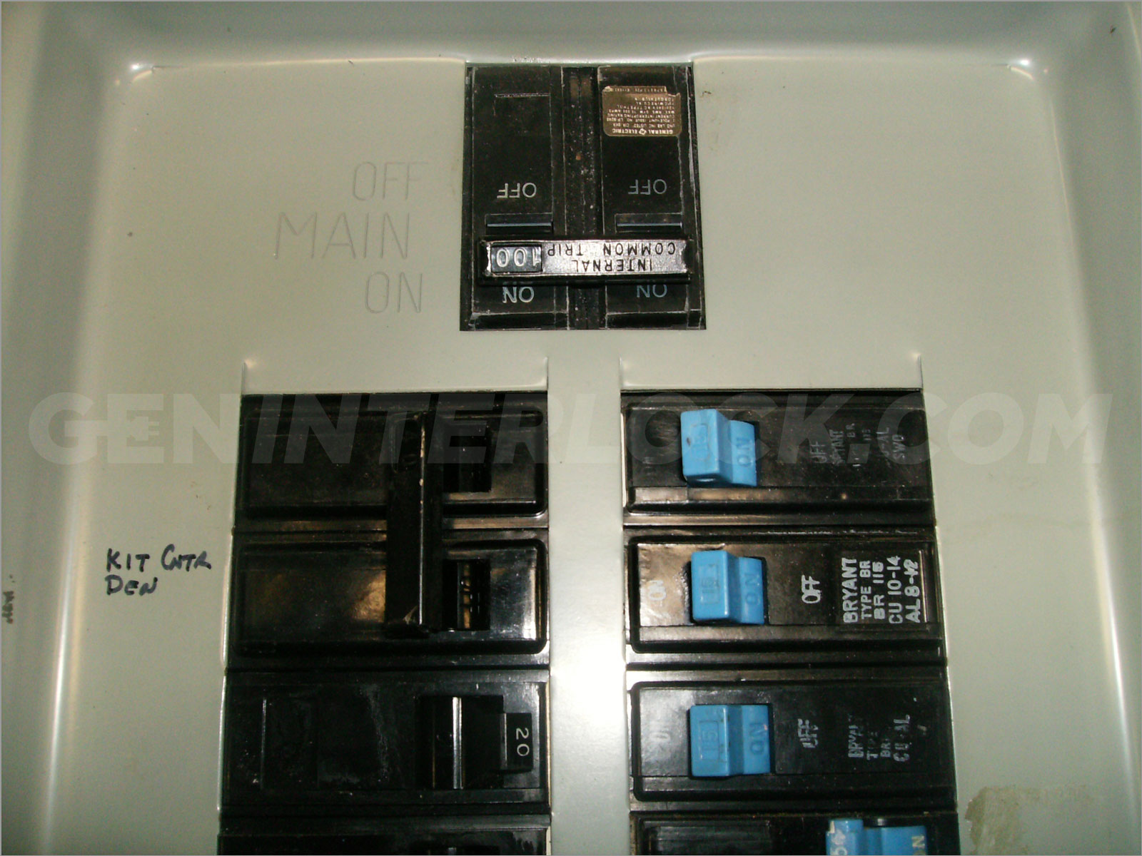 siemens murray 100a generator interlock kit transfer switch panel 100 amp geninterlock