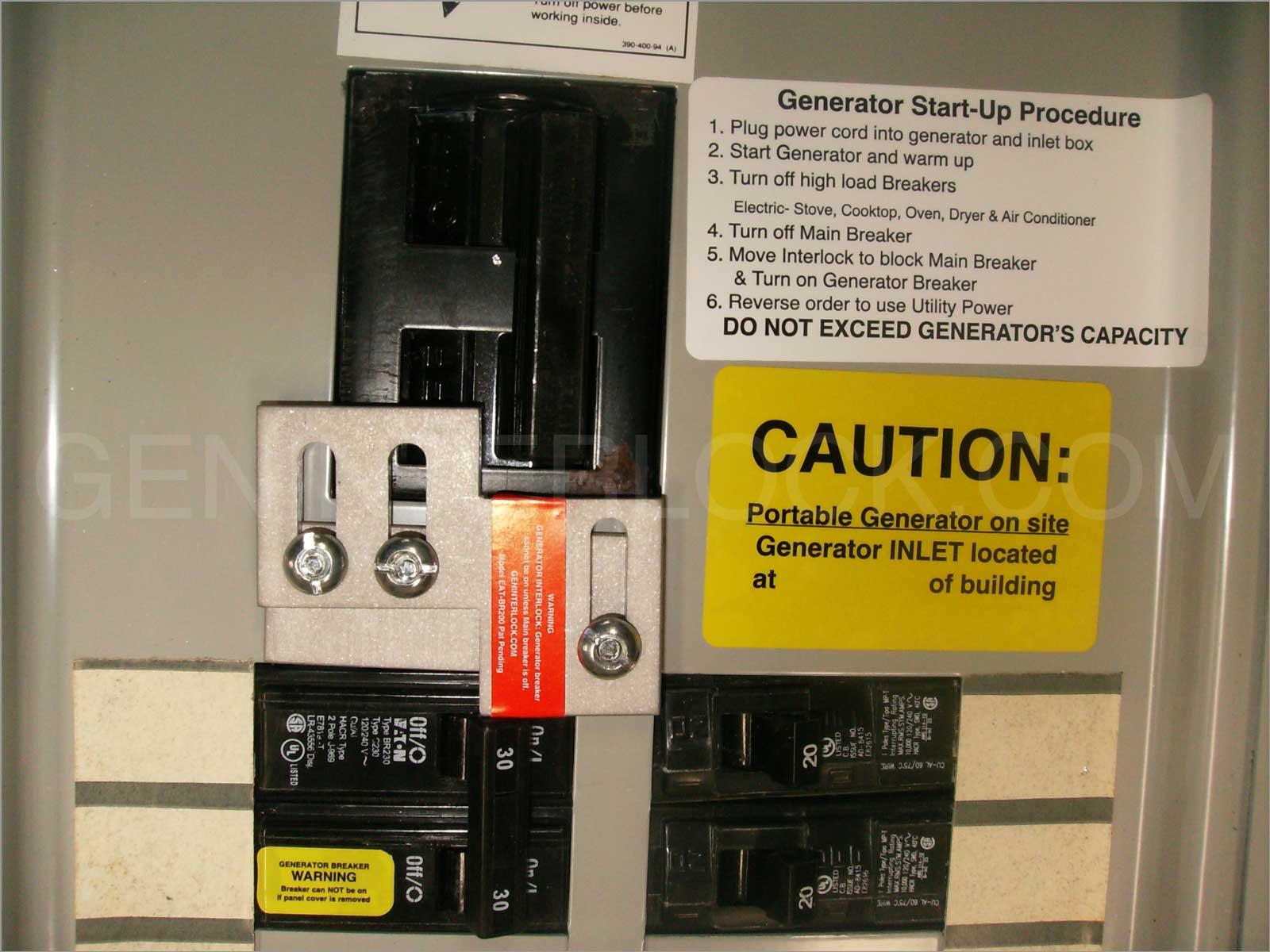 Generator Interlock Kit Westinghouse Thomas Amp Betts Or