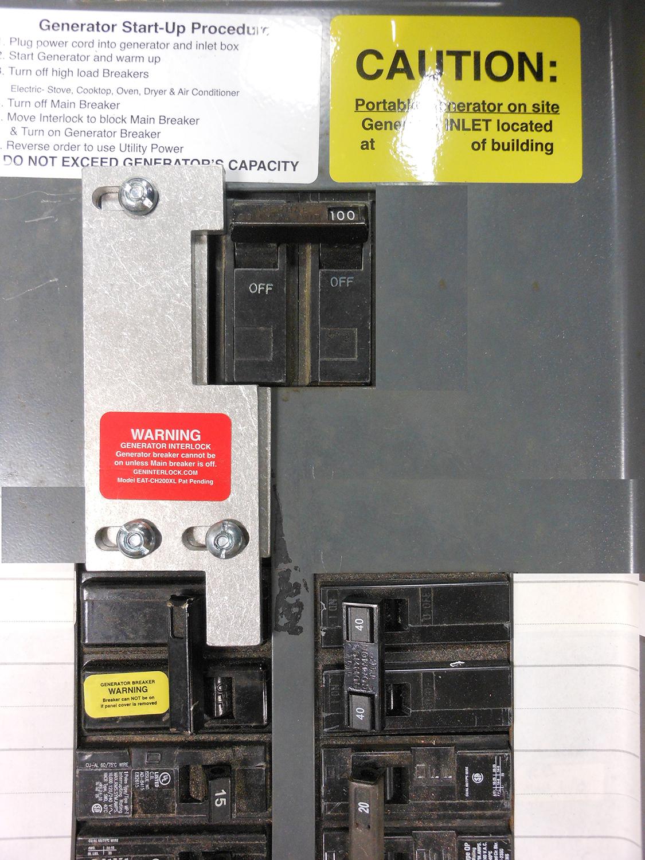 Generator Interlock Kit Gte Sylvania 100 Amp Panel