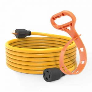 large-Yellow cord with hanger